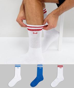 Pringle Sport Socks In 3 Pack With Stripe