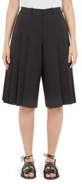 Carven Wide Leg Crepe Culottes