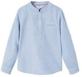 MANGO Cotton mao shirt