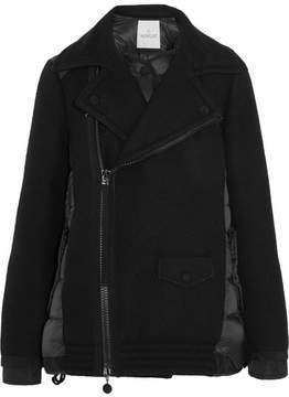 Moncler Twist Wool-blend And Quilted Shell Down Jacket - Black