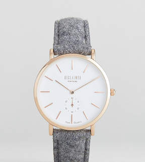 Reclaimed Vintage Inspired Wool Watch In Gray 36mm Exclusive to ASOS