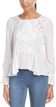 Flying Tomato Lace-Trim Top