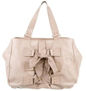 Blumarine Leather Bow-Accented Tote