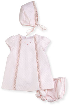 Luli & Me Quilted Pique Layette Set, Size 3-24 Months