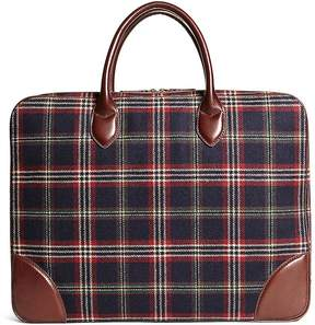 Brooks Brothers Signature Tartan Briefcase