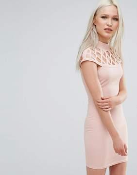AX Paris Dress With Lace Insert