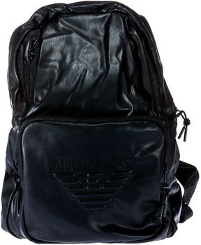 Armani Jeans Embossed Logo Backpack
