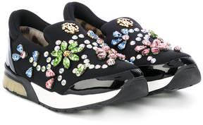 Roberto Cavalli embellished sneakers