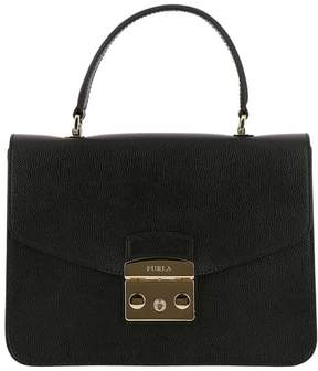 Furla Mini Bag Metropolis Bag S In Textured Leather With Removable Handle And Shoulder Strap