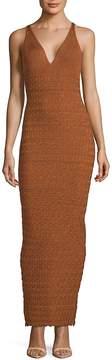Ronny Kobo Women's Tilda Textured Deep V-Neck Dress