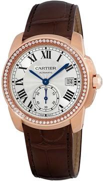 Cartier Caliber Silver Dial 18k Rose Gold Men's Watch
