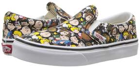 Vans Kids Classic Slip-On x Peanuts The Gang/Black) Kids Shoes