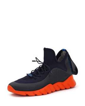 Fendi Runway High-Top Scuba Sneaker