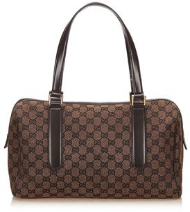 Gucci Pre-owned: Guccissima Jacquard Shoulder Bag. - BROWN X DARK BROWN X BLACK - STYLE