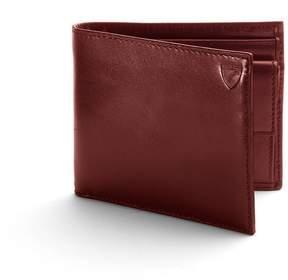 Aspinal of London Billfold Coin Wallet In Smooth Cognac Espresso Suede