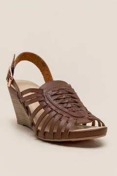 Laundry by Shelli Segal Cl By CL by Caged Wedge - Cognac
