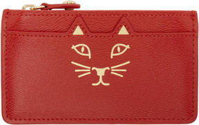 Charlotte Olympia Red Feline Coin Purse