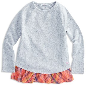 Vineyard Vines Girls' Plaid-Ruffle Top - Little Kid