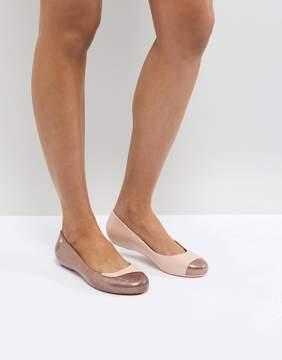 Melissa Rose Glitter Charlie Flat Shoes