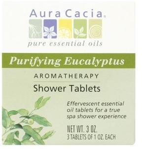 Aura Cacia Shower Tablets Purifying Eucalyptus