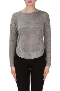 Joseph Ribkoff Metallic High Low Pullover