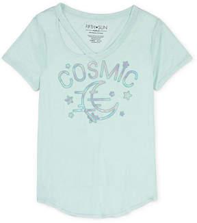 Fifth Sun Cosmic Tie Front Tee - Juniors Plus