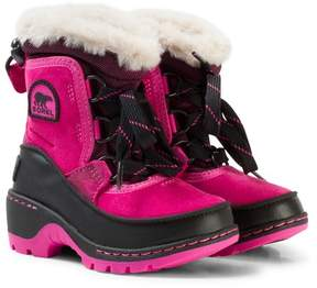 Sorel Pink Ice and Black Children's Torino Boots