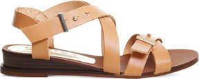 Office Savanna leather wedge sandals