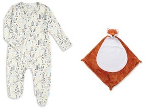 Angel Dear Infant Footie & Blankie Set