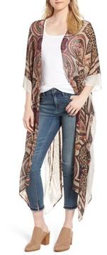 Sole Society Women's Paisley Print Kimono
