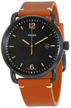 Fossil Commuter Black Dial Men's Leather Watch FS5276