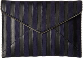 Rebecca Minkoff Stripe Leo Clutch Handbags - MOON - STYLE