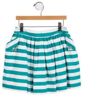 Lili Gaufrette Girls' Striped A-Line Skirt
