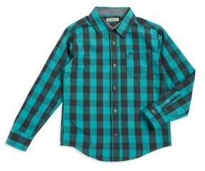 Calvin Klein Jeans Boys Checkered Casual Button-Down Shirt