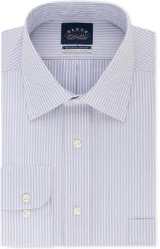 Eagle Men's Classic Fit Non-Iron Flex Collar Performance Blue Stripe Dress Shirt