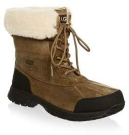 UGG Butte Bomber Leather and Suede Waterproof Boots