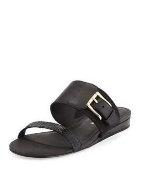 Donald J Pliner Bien Double-Strap Buckle Slide Sandal, Black
