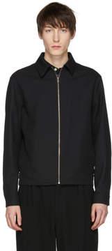 Lemaire Black Wool Zip Jacket