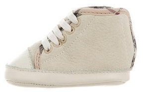 Burberry Boys' Suede High-Top Sneakers