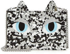 Karl Lagerfeld Choupette Mini Box Clutch with Chain Strap
