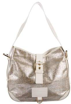 Marc Jacobs Leather-Trimmed Metallic Hobo