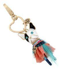 Betsey Johnson Dog Key Fob