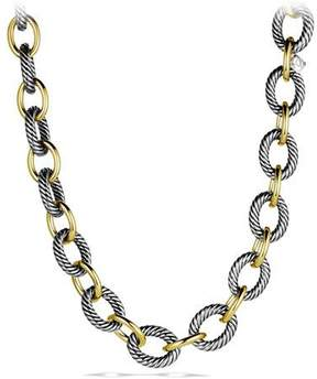 David Yurman XL Sterling Silver & 18K Gold Link Necklace, 18.5