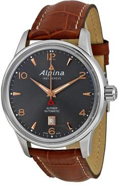 Alpina Alpiner Automatic Grey Dial Brown Leather Men's Watch