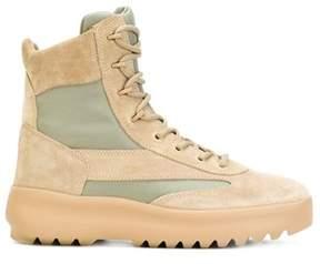 Yeezy Men's Beige Suede Ankle Boots.