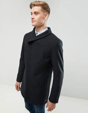 Esprit Wool Overcoat With Funnel Neck