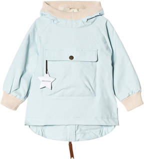 Mini A Ture Light Blue Baby Anorak with Rib Detail