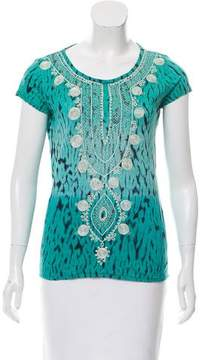 Calypso Embroidered Linen Top w/ Tags
