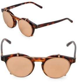 Linda Farrow 47MM Clubmaster Sunglasses