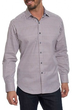 Robert Graham Men's Big & Tall Marion Classic Fit Stripe Sport Shirt